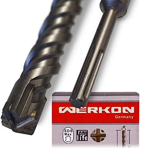 SDS Max Bohrer 20mm Ø - Lang 20x800 mm - Ideal zum schnellen Bohren in Beton - Hochwertige Hartmetall Spitze - Kein Einhacken in Armierungseisen 20x800mm