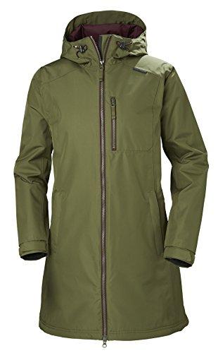 Helly Hansen Damen W Long Belfast Winter Jacke, 491 Ivy Green, S (Helly Hansen Ski Jacke Frauen)