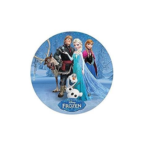 Disque Azyme MOD Frozen Reine des Neiges Déco Gâteau Enfant 21cm - 073- 1
