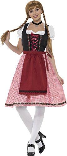 SMIFFY 'S 49668M Bayerische Tavern Dienstmädchen Kostüm, rot und schwarz, mittel/Größe (Kostüme Lady Bayerische)