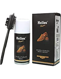 Helios Nubuck and Suede Shoe Care Kit with Cleaning Brush, Multicolour