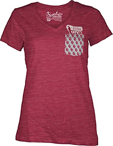 NCAA Oklahoma Sooners Juniors Emerald Pocket Short Sleeve T-Shirt, Large,