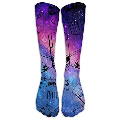 khgkhgfkgfk Skull-Chef Cooking Lover Gift Men Women Crew Socks Casual Long Socks Unisex 19.68 inch