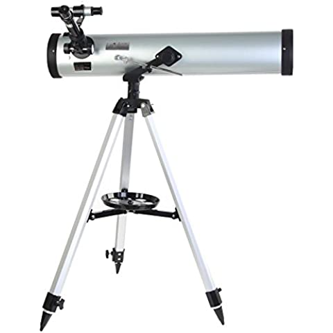 chuangke telescopio astronómico refractor tipo espacio telescopio w/trípode para niños estudiante regalo de Navidad