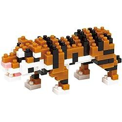 Nanoblock 14478 - Puzzle 3D de 170 Piezas (NAN-NBC104) Tigre de Bengala