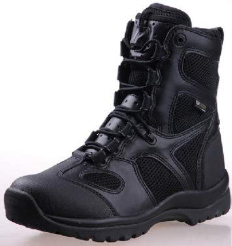 HCBYJ scarpa Stivali da Combattimento da Uomo Outdoor High-Top Stivali Militari Commando Stivali Tattici Desert... | Aspetto Attraente  | Scolaro/Signora Scarpa