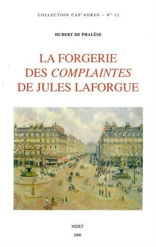 La Forgerie des complaintes de Jules Laforgue