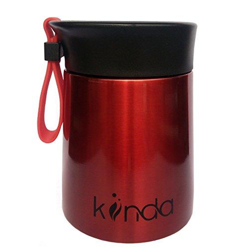 Thermobehälter Warmhaltebox 350 ml von kiinda - BPA-Frei | Edelstahl Isolierbehälter für warme Speisen, Babynahrung, Suppe