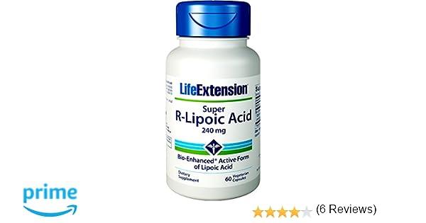 687b5b346af1 Life Extension, Super R-Lipoic Acid, 300 mg, 60 Capsules végétales   Amazon.fr  Hygiène et Soins du corps