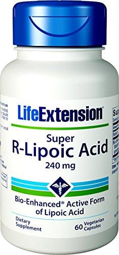 Life Extension, Super R-Lipoic Acid (R-Liponsäure), 240mg, 60 Veg. Kapseln