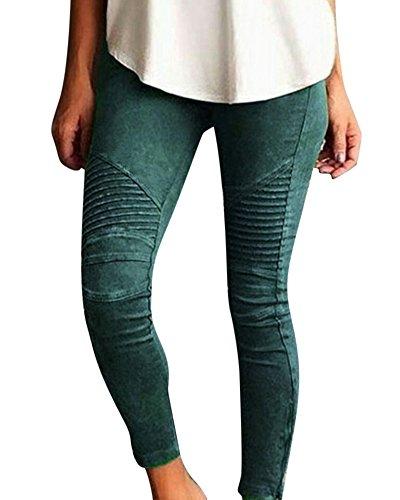 Tallas Grandes Mujeres Skinny Pantalones Elásticos