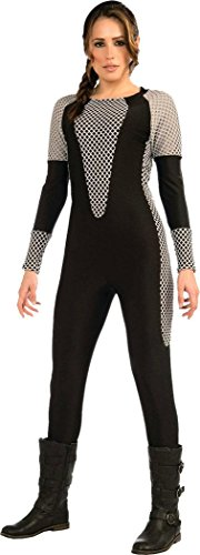 Damen Halloween Party Kostüm Kostüm Überlebung Hunger Trainieren Overall Klein (Hunger Games Halloween-party)