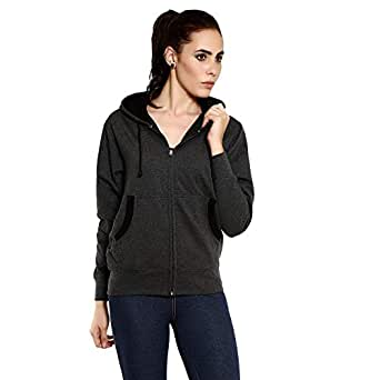 GOODTRY G Women's Cotton Hoodies-Charcoal MelangeGTWH-029-CHRML-S