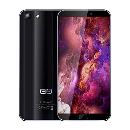 Elephone S7 Smartphone 4G LTE 5.5 Pantalla Curva 4GB +64GB 3000mAh 13MP 1080P teléfono móvil (Negro)