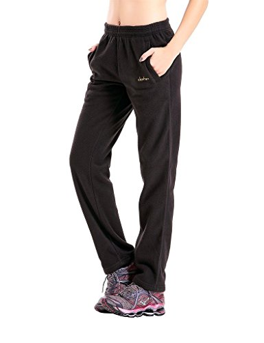 Clothin Herren/Damen Thermo-Pullover, Polar-Fleece, Sweatpants, Damen, Women Black Promo, US S -