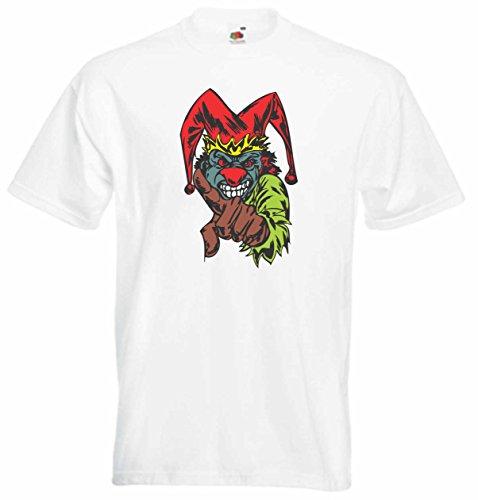 T-Shirt Herren Monster droht der Tod Weiß