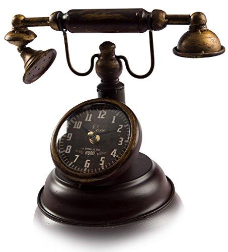 CHICCIE Retro Uhr ALS Telefon 31cm - Standuhr Tischuhr Kaminuhr antik Vintage