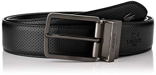 Lacoste Herren Rc4002 Gürtel, Schwarz (Black 000), 95 (Herstellergröße: 110) -
