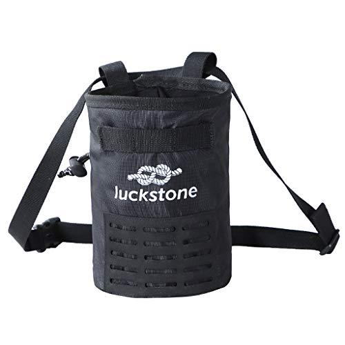 Hengzi Outdoor Klettern Kreide Tasche Wasserdichte Polyester Magnesium Pulver Tasche (Schwarz) (Von Tasche Kalk)