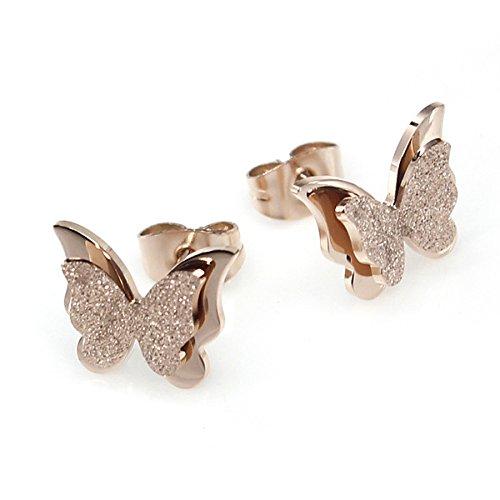 Kostüm Passende Schnell - Schmetterling Ohrringe, Edelstahl Ohrstecker für Damen Valentinstag Geschenk, Modeschmuck