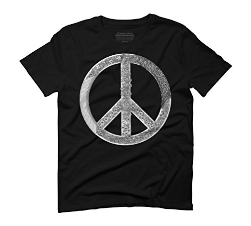 Generative Peace Tee Men's Graphic T-Shirt - Design By Humans Black