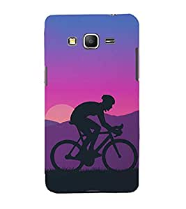 FUSON Cycling Mountain At Sunset 3D Hard Polycarbonate Designer Back Case Cover for Samsung Galaxy Core Prime :: Samsung Galaxy Core Prime G360 :: Samsung Galaxy Core Prime Value Edition G361 :: Samsung Galaxy Win 2 Duos Tv G360Bt :: Samsung Galaxy Core Prime Duos