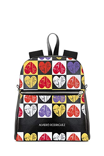 709f2a91be Alviero Rodriguez Women's Internationalloveblack Black Faux Leather Backpack
