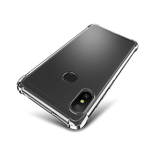 SLEO Funda para Xiaomi Mi A2 Lite/Xiaomi Redmi 6 Pro Carcasa Protectora Silicona TPU Suave Ultra Delgada Flexible Case Bumper con Esquinas Reforzadas Antideslizante Rasguño Resistente Cover