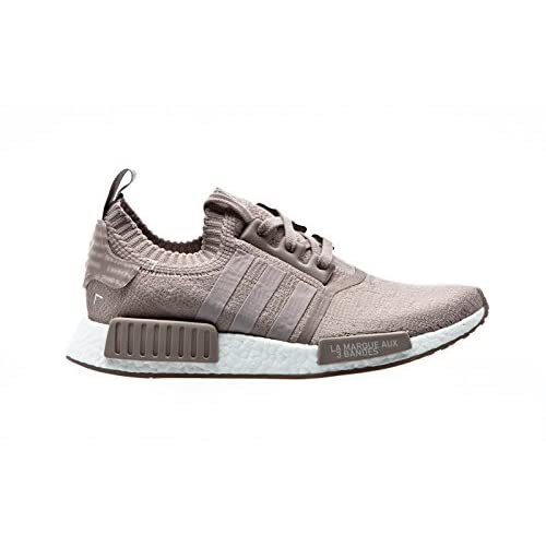 41vrYtJX5TL. SS500  - Adidas Originals NMD R1 Primeknit Trainers in Beige & Vapour Grey S81848