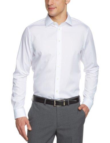Arrow Herren Businesshemd Slim Fit 010001/01 Madison NOS Kent 1/1 W102, Gr. 39, Weiß (01) (Hemd Arrow)