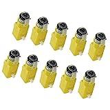 SODIAL 10 Piezas Auto Inteligente TT Motor Lanzamiento Motor De Engranaje De Coche Inteligente para Arduino
