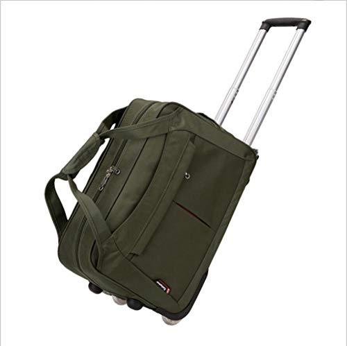 LXIANGP Tragbare Trolley-Tasche 20-Zoll-Handgepäckwagen mit ultraleichten Rädern for die Kabine Reisetasche 2 Rollen Hohe Kapazität (Color : Green)