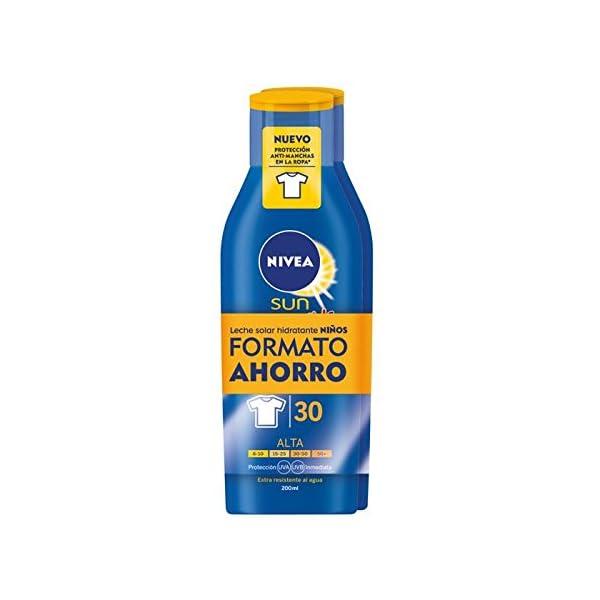 NIVEA Sun Kids- Duplo crema solar niños FP30 – Protección UV alta – 400 ml