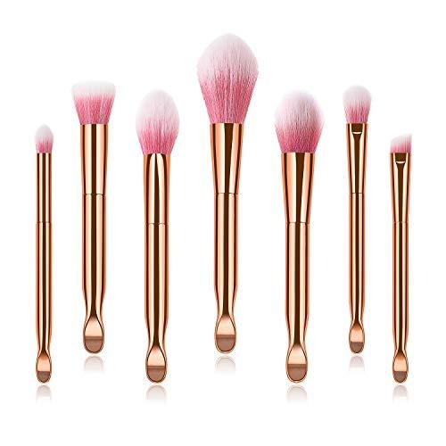 Mehrfachkombination Make-up Pinsel Set Make-up Pinsel Ohr Löffel Polieren, Spot, Concealer - Hochwertige synthetische Kompaktborsten Make-up Cosmetic brush (UnitCount : 7) (Löffel Ziel)