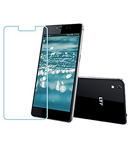 Lyf Water 8 Curved Tempered Glass, Transparent Back Cover & Flip Cover Combo By Case Cover