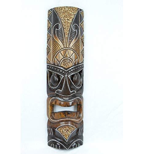 Artisanal Maske Tiki H50cm aus Holz. Déco Maori, Handwerk Welt.