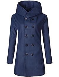 Manteau chaud hiver plus taille grande a lacet plain