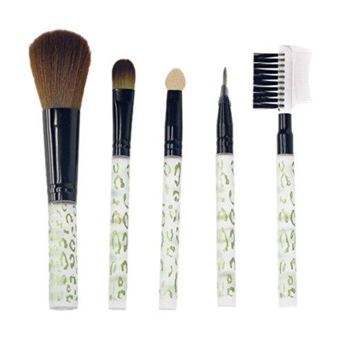 Davidsonne Professionnel Fond de Teint Poudre Blush cosmétiques Set de pinceaux à maquillage (5, blanc)