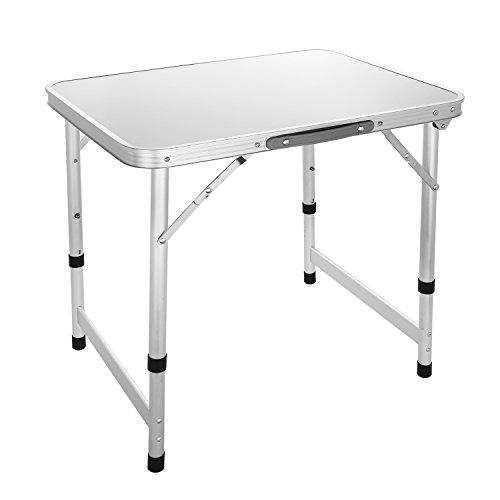 Coorun Aluminium Kleiner Campingtisch klappbar Picknicktisch Falttisch höhenverstellbar Klapptisch...