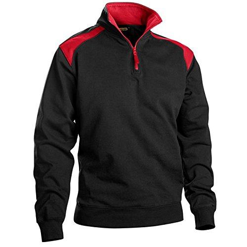 Blakläder 335311589956l Half Zip zweifarbig Größe L in schwarz/rot 1 (Reißverschluss-abschnitte Zwei)