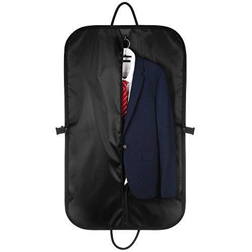 Cmxing Anzugtasche 100 x 60cm mit den Außentasche Faltbare Kleidersack Transporttasche Kleidertasche aus Verdicktem Oxford-Tuch für Reisen Business (Rock Anzug Falten)