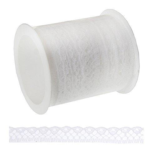 Spitzenband, 9 mm breit, 5 m lang, weiß - 1 Spitzenband