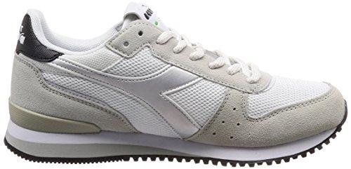 Diadora Malone W, Sneaker Donna Bianco (Bianconero)