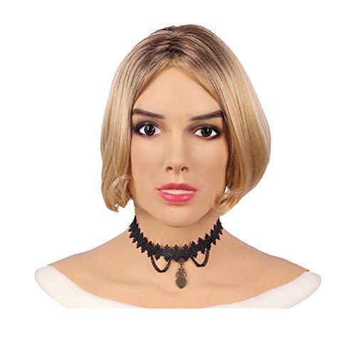 Ajusen Sexy Weibliche Masken Frauen Maskerade Halloween Weihnachten Masken Cosplay für Crossdresser Transgender Shemale