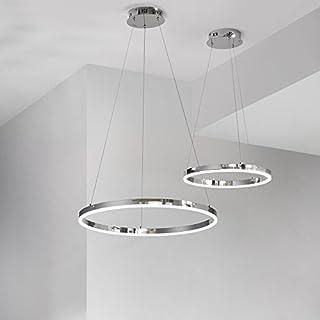 s.LUCE Ring S LED-Hängeleuchte Ø 40cm Chrom Wohnzimmer Hängelampe LED Ring Pendelleuchte Pendellampe Designleuchte Deutsches Design aus Bayern