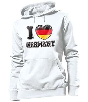 I LOVE GERMANY FAN HOODIE 4782(FKP) Taglia. Small
