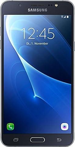 Samsung Galaxy J7 2016 Smartphone debloque 4G (Ecran 5,49 pouces - 13,93 cm Touch-Display - 16 Go - Android Beam) Noir (Import Allemagne)
