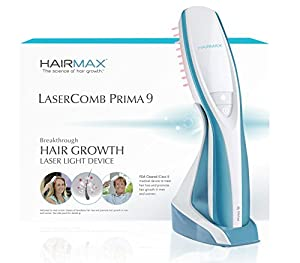 HairMax PRIMA 9 LaserComb - Stimulates Hair Growth, Reverses Thinning, Regrows Fuller More Vibrant Hair.