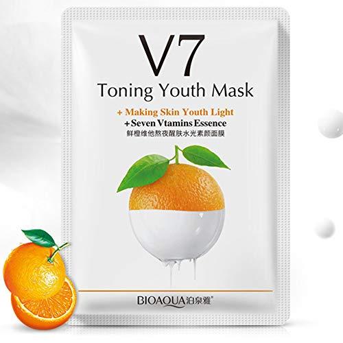 Obst V7 Toning Jugend Gesichtsmaske Moisturizing Wrapped Maske Hautpflege (Obst Jugend)