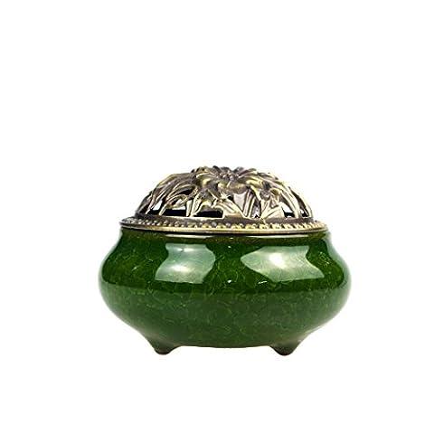 IPUIS Brûle-Encens Encensoir Celadon Brûleur d'Encens en Céramique Bouddha avec